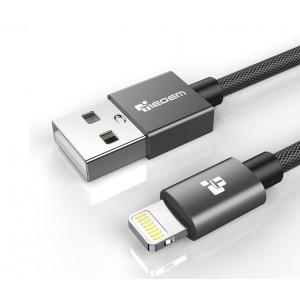 Кабель Lightning-кабель для IPhone, 1 м, серый
