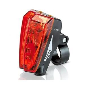 Задний красный велофонарь Яркий луч V052 (2хААА)