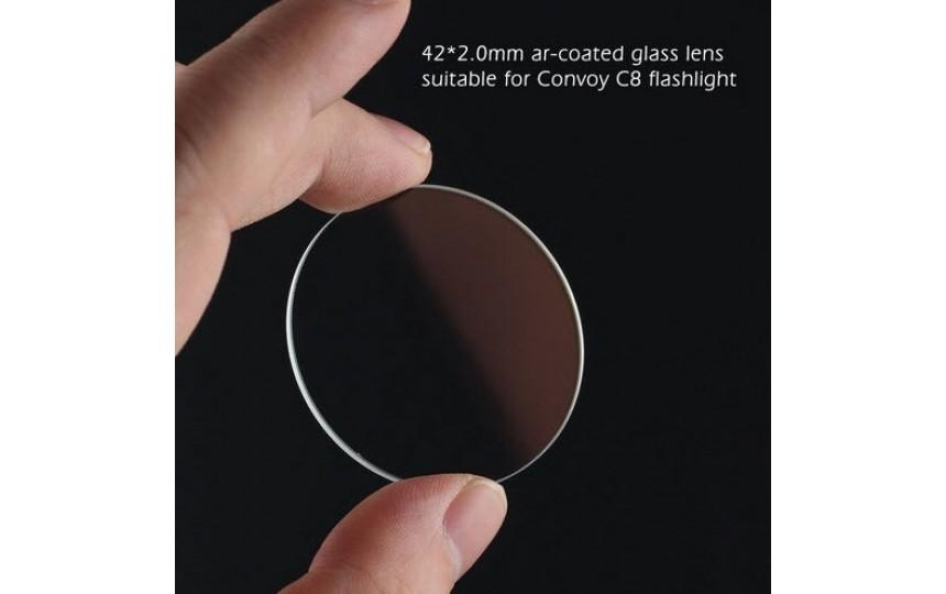 Сменное стекло для Convoy C8, d=42мм