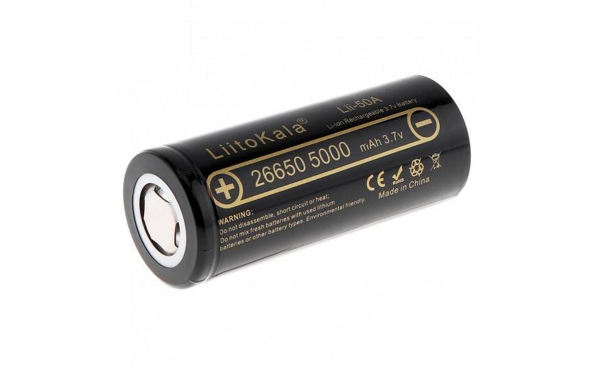 Аккумулятор литиевый 26650 Liitokala Lii-50A 5000мАч