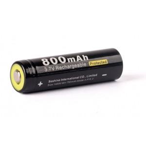 Аккумулятор литиевый (Li-ion) Soshine 14500 800мАч с защитой