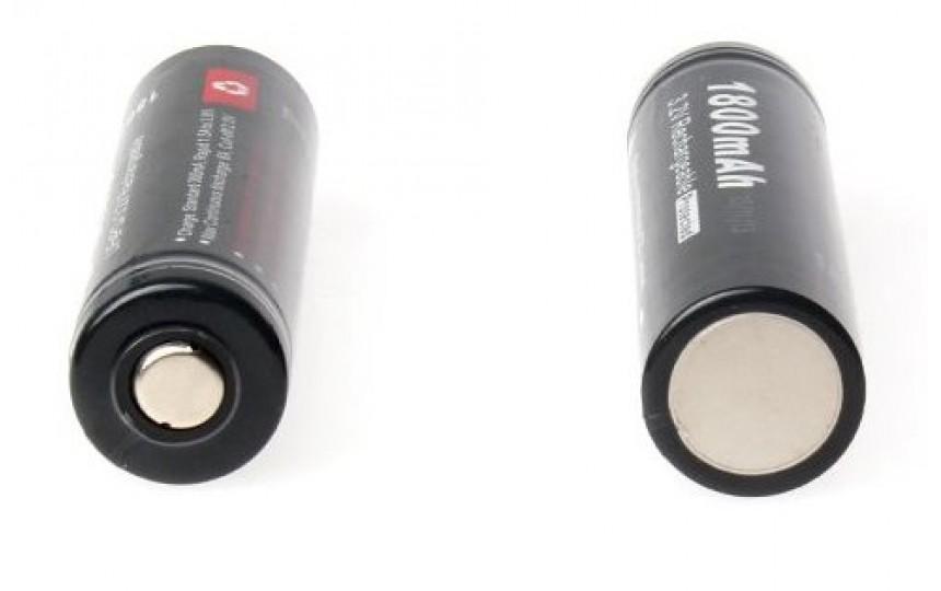 Аккумулятор Soshine 18650 3.2V 1800мАч (LiFePO4) с защитой