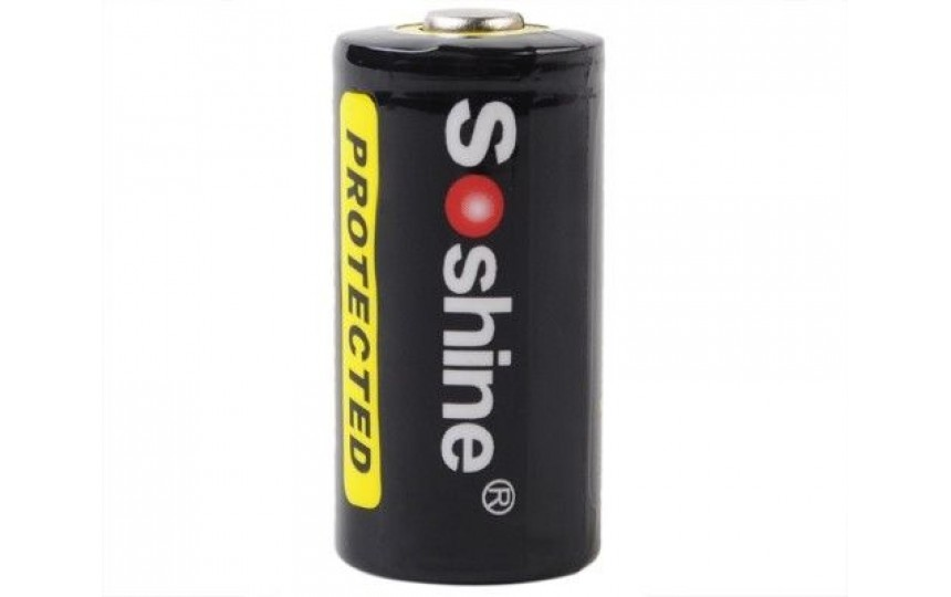 Аккумулятор литиевый Soshine RCR123/16340 700мАч 3.7V с защитой