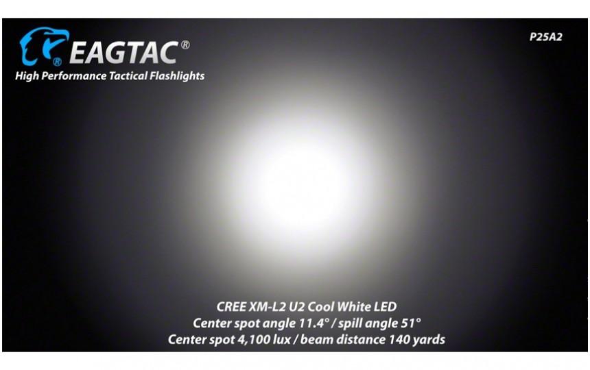EagleTac P25A2  XM-L2 U2 холодный белый свет