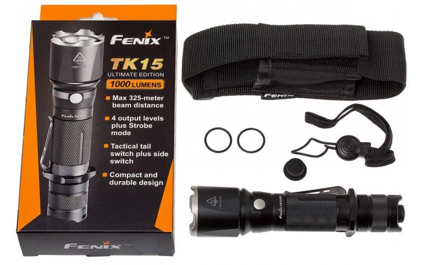 Fenix TK15 UE (CREE XP-L HI V3, 1000 лм, 325 м, 18650) белый свет