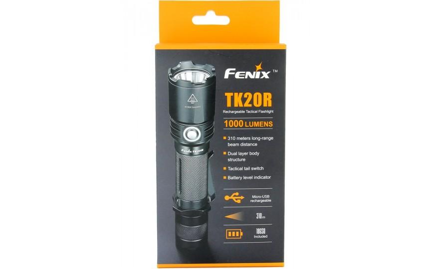 Fenix TK20R (XP-L HI V3, 1000 лм, 310 м, 18650 в комплекте) белый свет
