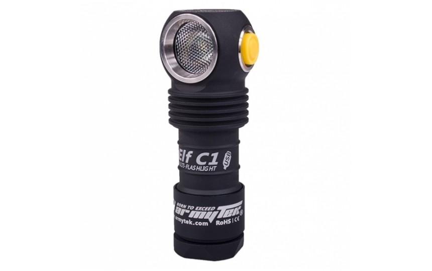 Налобный фонарь Armytek Elf C1 Micro-USB + 18350 Li-Ion на теплом диоде XP-L