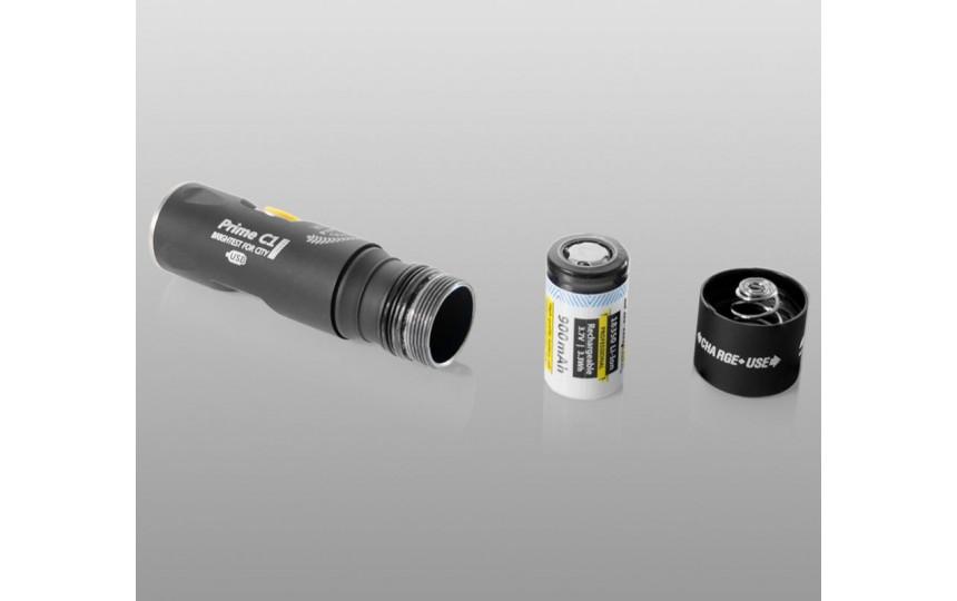 Armytek Prime C1 Pro Magnet USB (CREE XP-L, 900лм, 159м, 18350) теплый свет