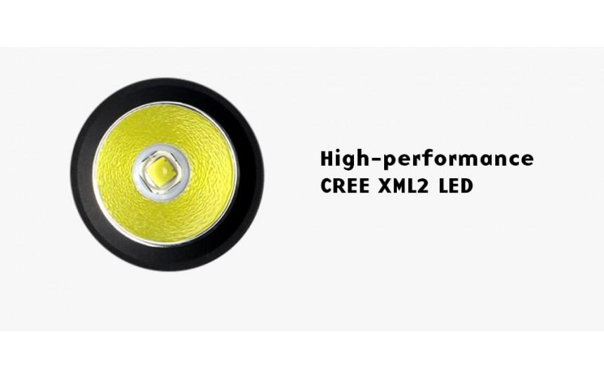 Convoy S9 (CREE XM-L2 Т6, 560 лм, 110 м, 18650 в комплекте) нейтральный белый свет