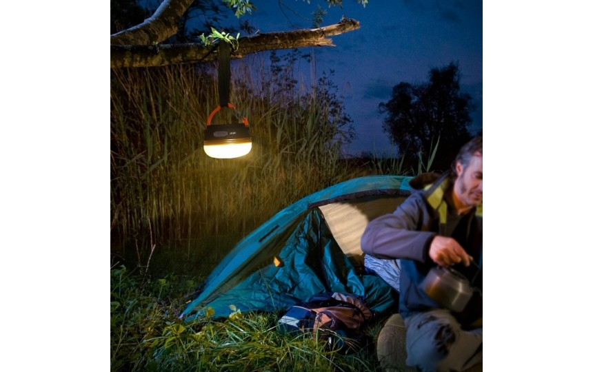 Кемпинговый фонарь 300 лм со встроенным аккумулятором, 3 реж., теплый свет