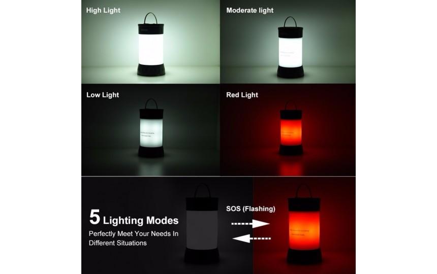 Кемпинговый фонарь (350лм, 5 режимов, 18650) белый свет