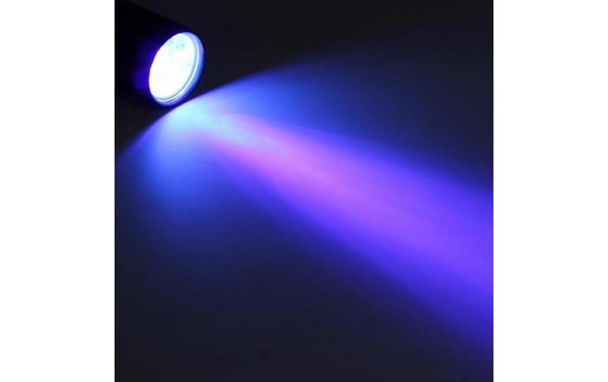Ультрафиолетовый фонарик 395нм 12 диодов