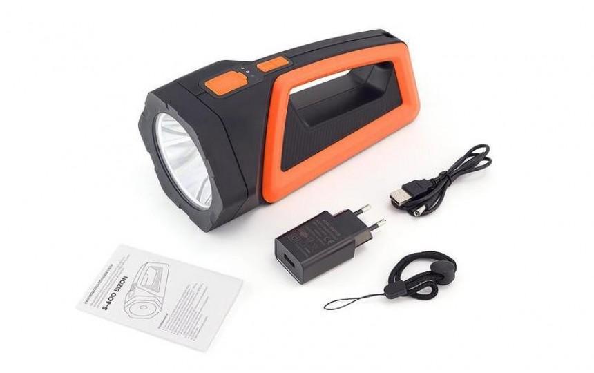 Яркий луч BIZON S-600 (CREE XM-L, 600 лм, 350 м, встроенный аккумулятор) + USB з/у