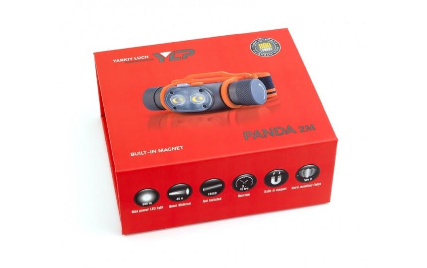 Налобный фонарь Яркий луч Panda 2M (2 x XP-G3 NW, ANSI 800 лм, 18650)