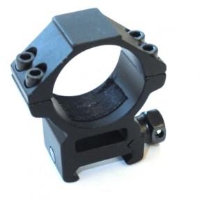 Крепление кольцо 30 мм на рейку Weaver/Picatinny среднее вер.1