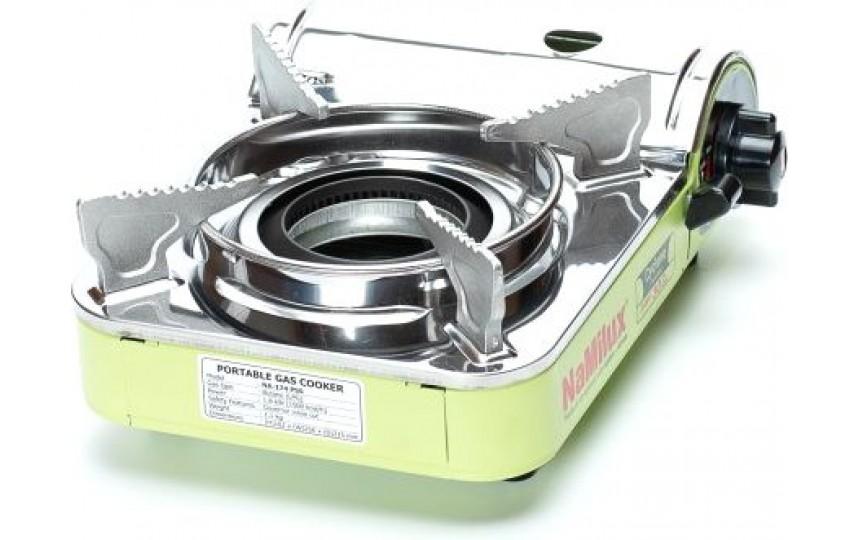 Портативная газовая плита с конфоркой циклон NaMilux NA-174PSS