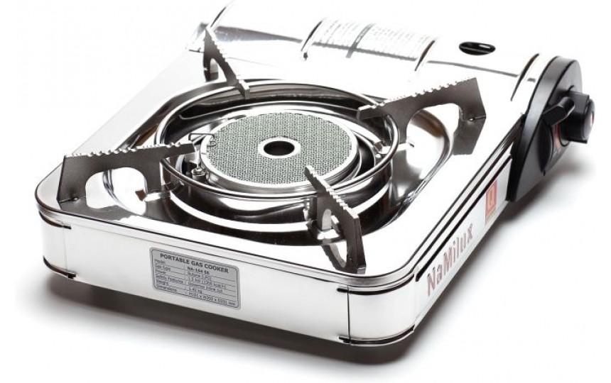 Керамическая портативная газовая плита NaMilux NA-164SS