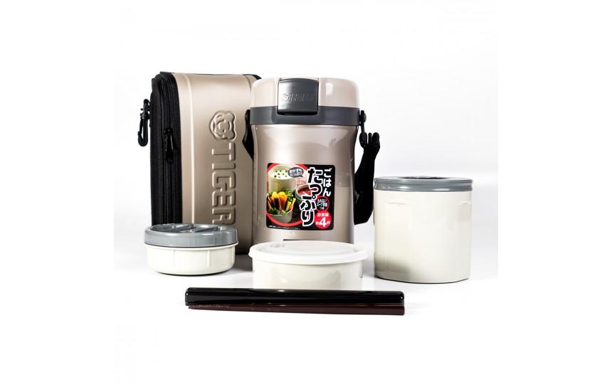 Ланч-набор для еды Tiger LWU-B200 Warm Silver (2,0 л)