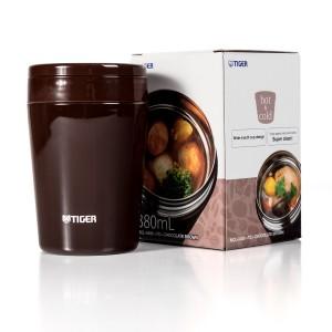 Термоконтейнер для первых или вторых блюд Tiger MCL-A038 Chocolate Brown, 0.38 л (цвет шоколадно-коричневый)