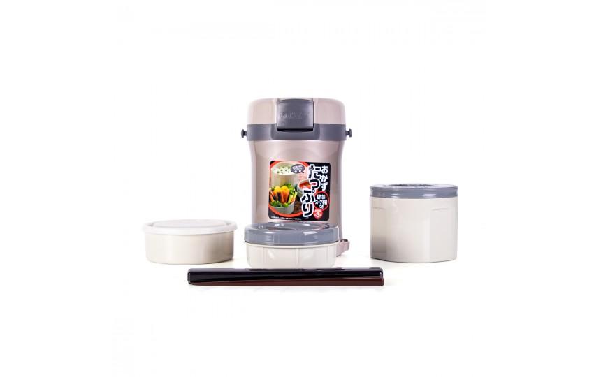 Ланч-набор для еды Tiger LWU-B170 Warm Silver (цвет серебряный)