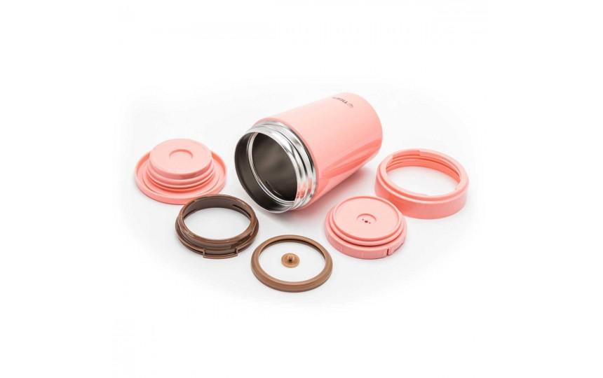 Термоконтейнер для первых или вторых блюд Tiger MCL-A038 Cream Pink, 0.38 л (цвет кремово-розовый)
