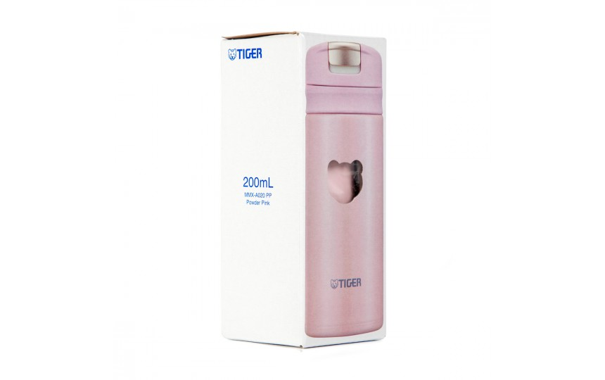 Термокружка Tiger MMX-A020 Powder Pink 0,2 л (цвет пудрово-розовый)