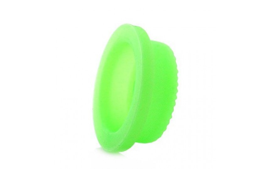 Накладка на кнопку зеленая люминесцентная 20x16