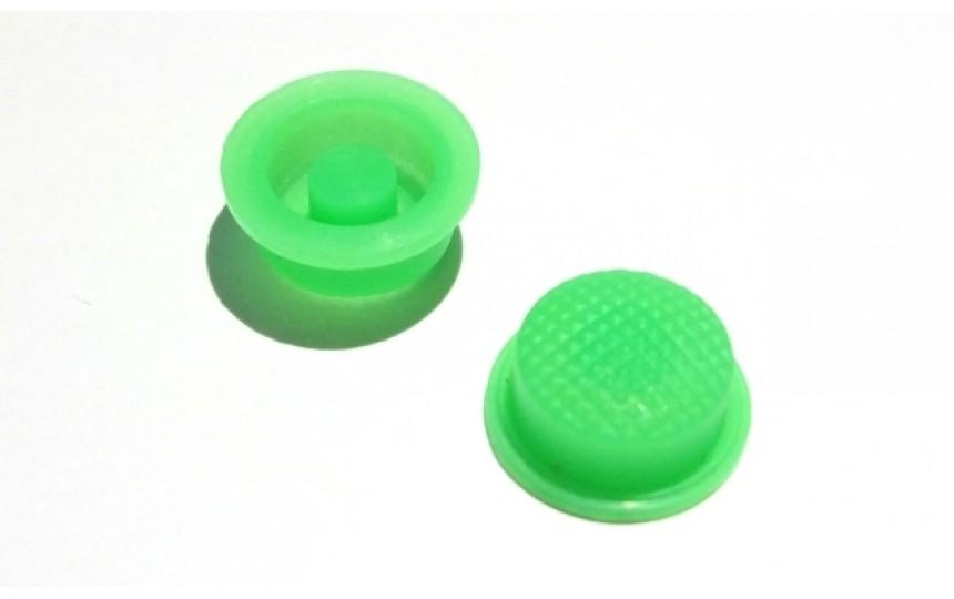 Накладка на кнопку зеленая люминесцентная 17.5х15