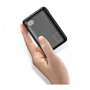 Внешний аккумулятор RAXFLY Portable10000 mah 2 USB Black