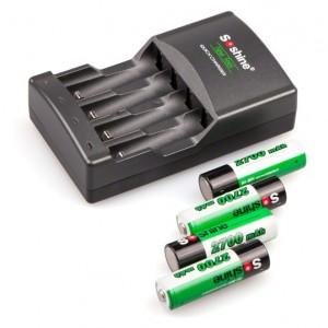 Комплект (зарядное устройство + аккумуляторы) Soshine SC-U1 + 4 AA (2700 мАч)