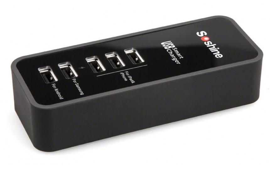 Сетевой адаптер Soshine на 5 USB портов