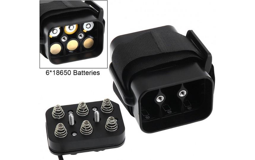 Аккумуляторный кейс для велофары (Battery case) 6x18650