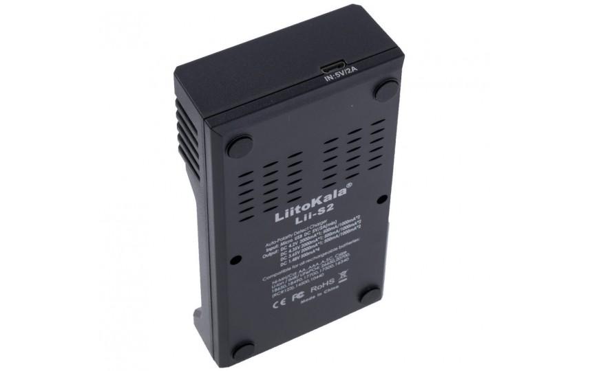 Зарядное устройство LiitoKala Lii-S2 для Li-Ion/IMR/Li-FePO4/Ni-Mh/Ni-Cd