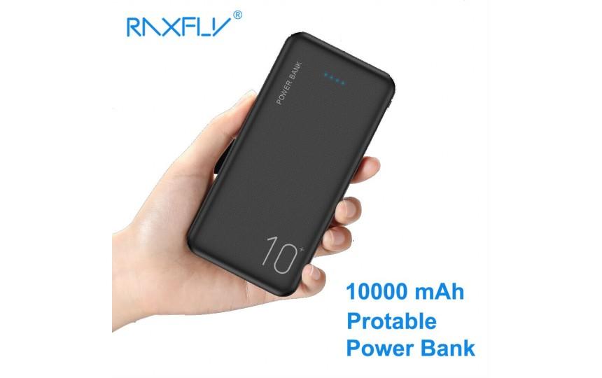 Внешний аккумулятор RAXFLY 10000 mah 2 USB Black